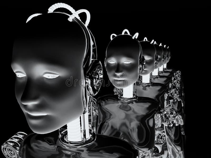 Vrouwen 6 van de robot royalty-vrije illustratie
