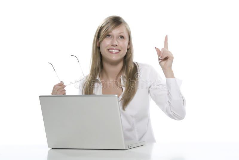 Vrouwen aan de computer stock foto's