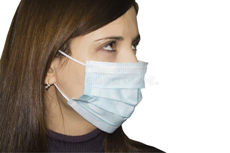 Vrouwen die beschermend masker dragen royalty-vrije stock foto
