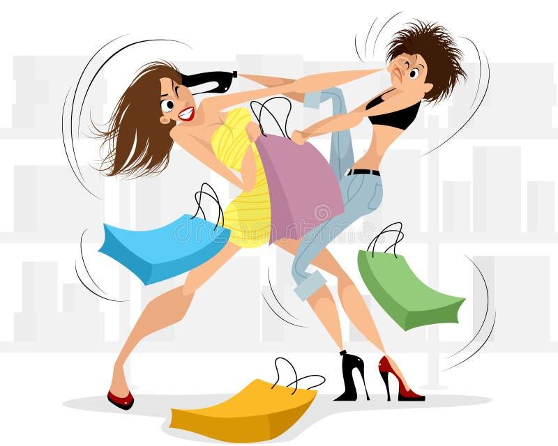 Vrouwen die in de opslag vechten vector illustratie