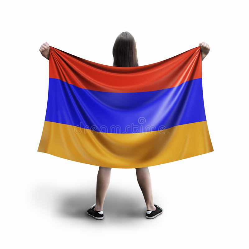 Vrouwen en Armeense vlag stock illustratie