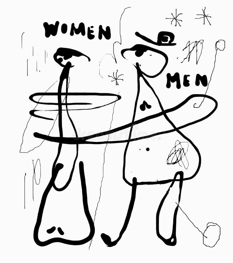 Vrouwen en mannen vector illustratie