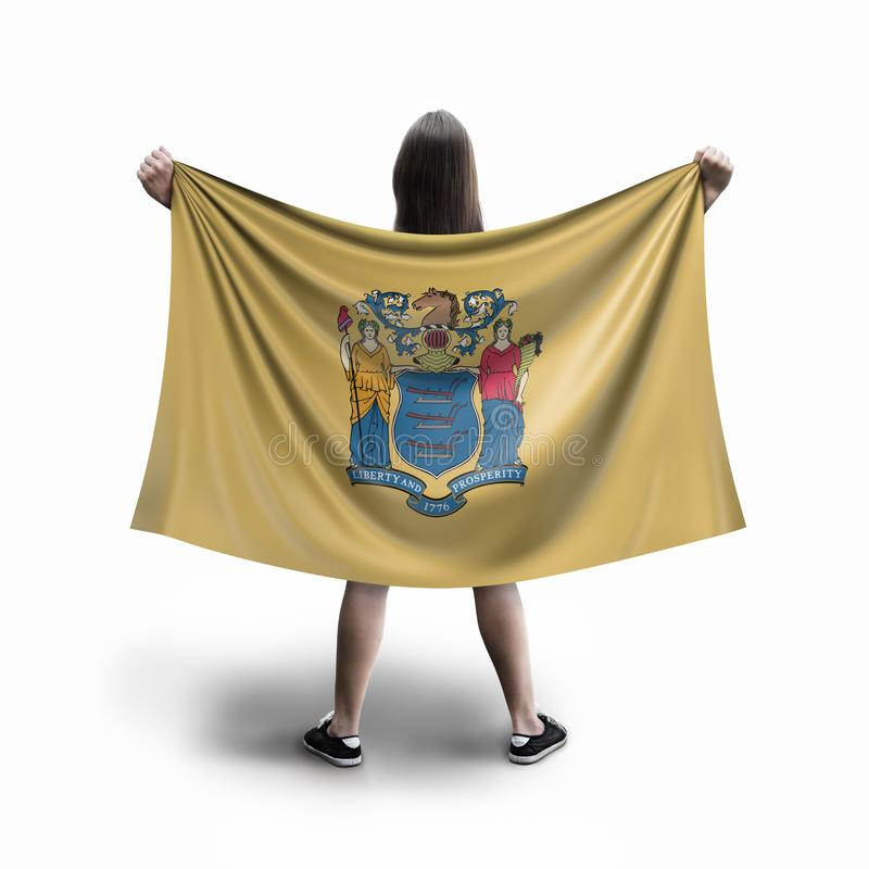 Vrouwen en New Hampshire-vlag royalty-vrije stock fotografie
