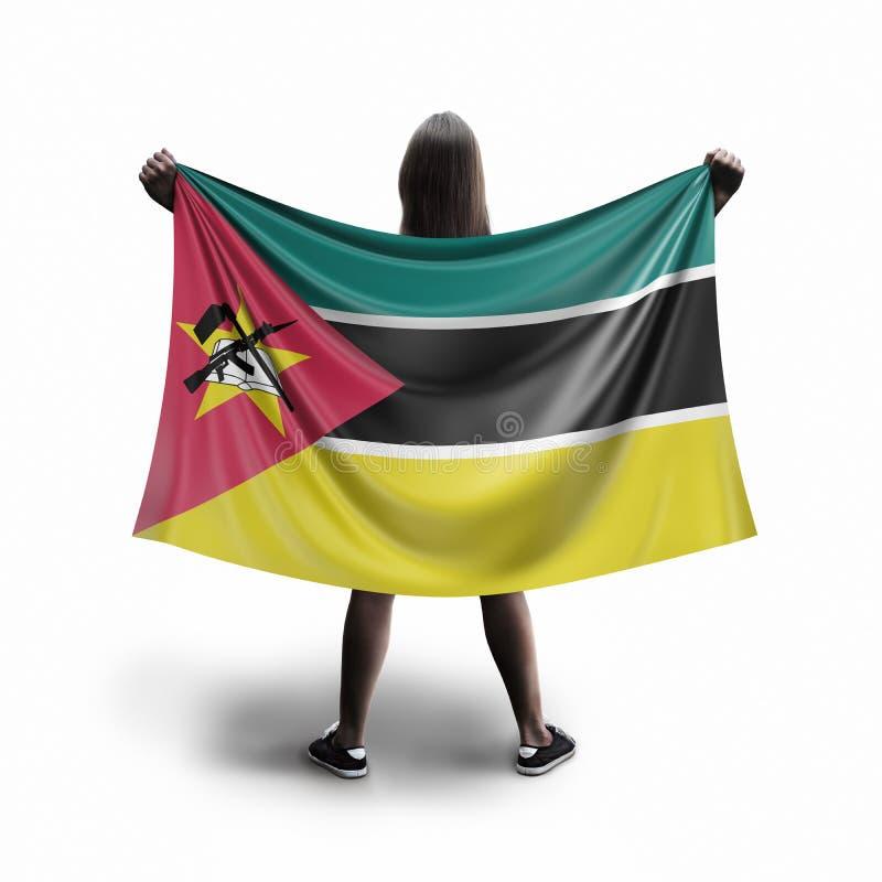 Vrouwen en van Mozambique vlag royalty-vrije illustratie