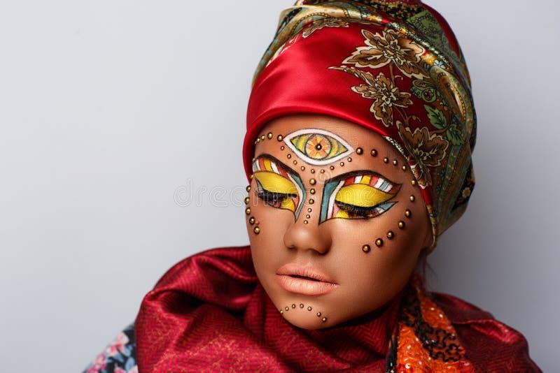 Vrouwen etnische make-up royalty-vrije stock afbeeldingen