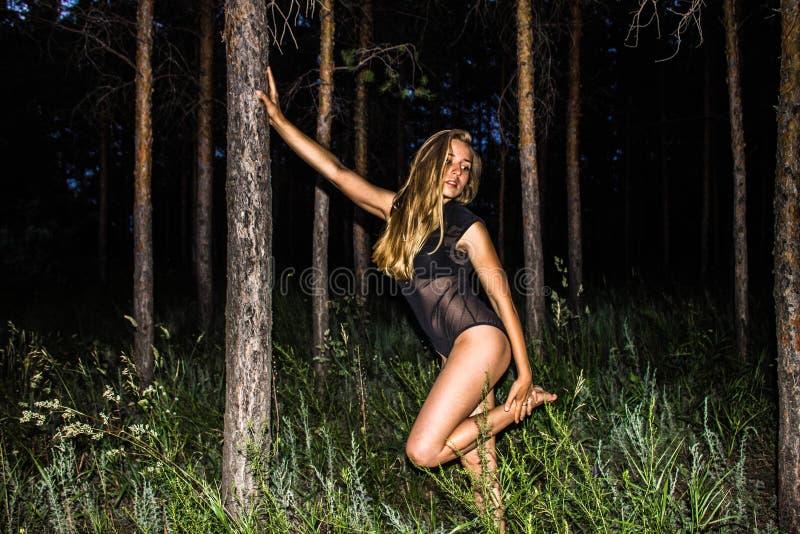 Vrouwen in het bos royalty-vrije stock afbeelding