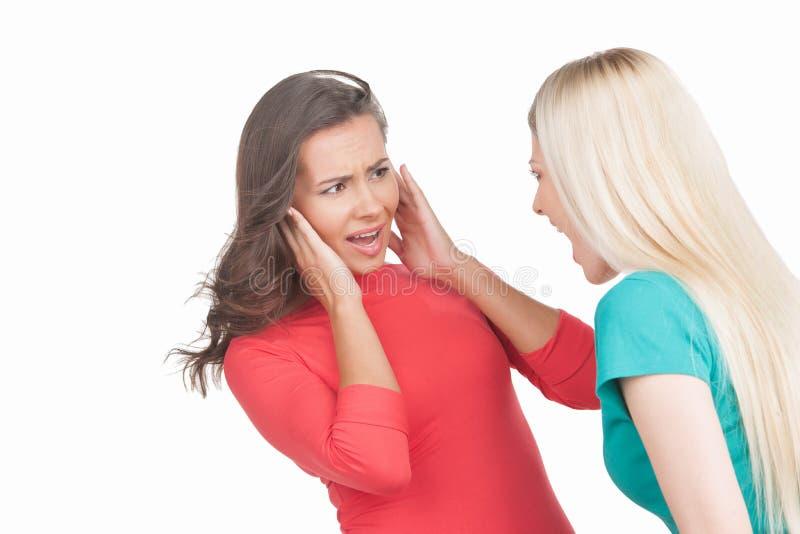 Vrouwen het schreeuwen. stock afbeeldingen