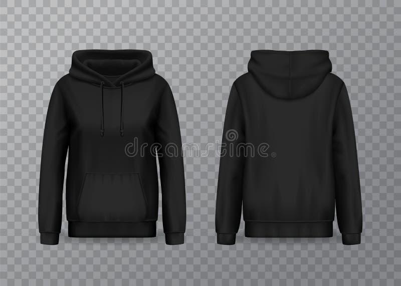 Vrouwen hoody of 3d trui hoodie voor vrouw stock illustratie