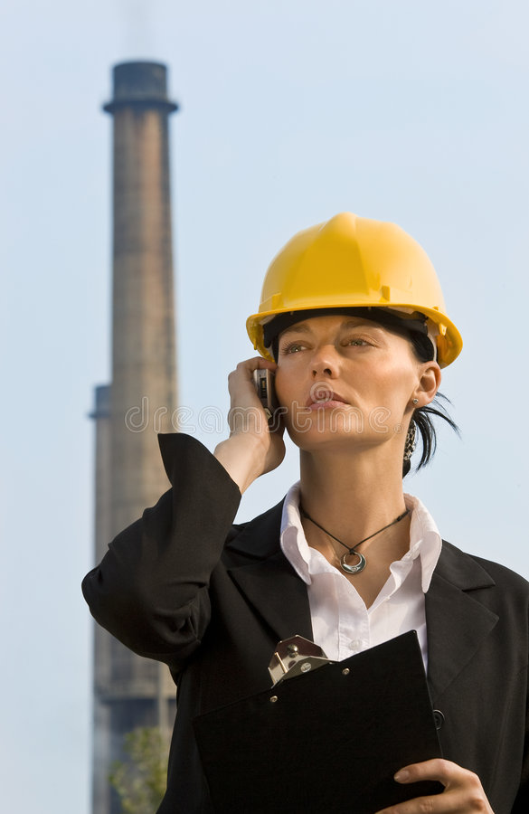Vrouwen in Industrie stock fotografie