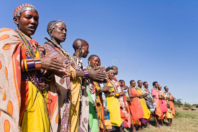 Vrouwen Maasai stock foto's
