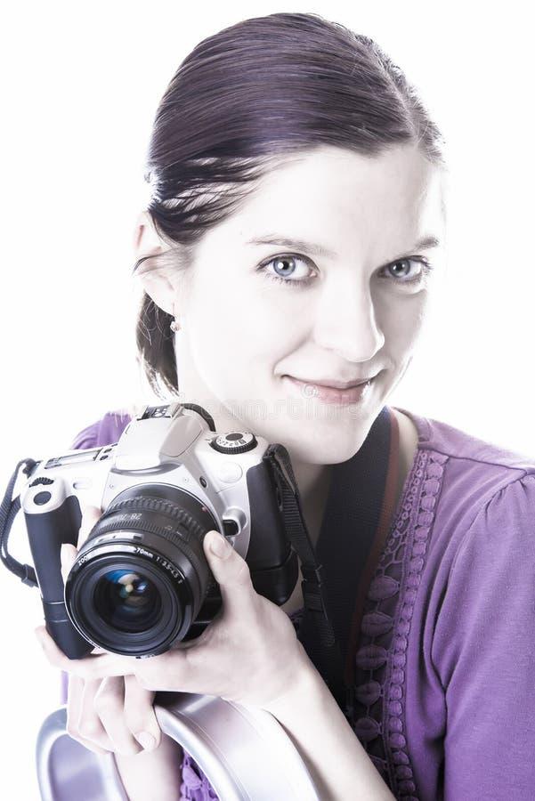 Vrouwen met camera royalty-vrije stock foto's