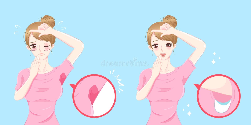 Vrouwen met okselprobleem vector illustratie