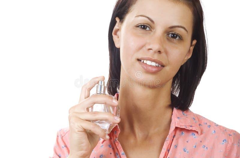 Vrouwen met parfum stock foto's
