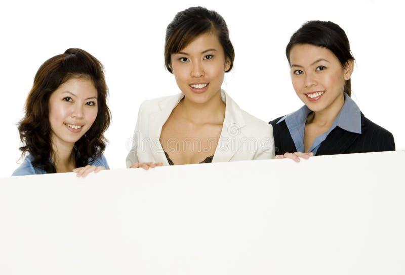 Vrouwen met Teken royalty-vrije stock foto's