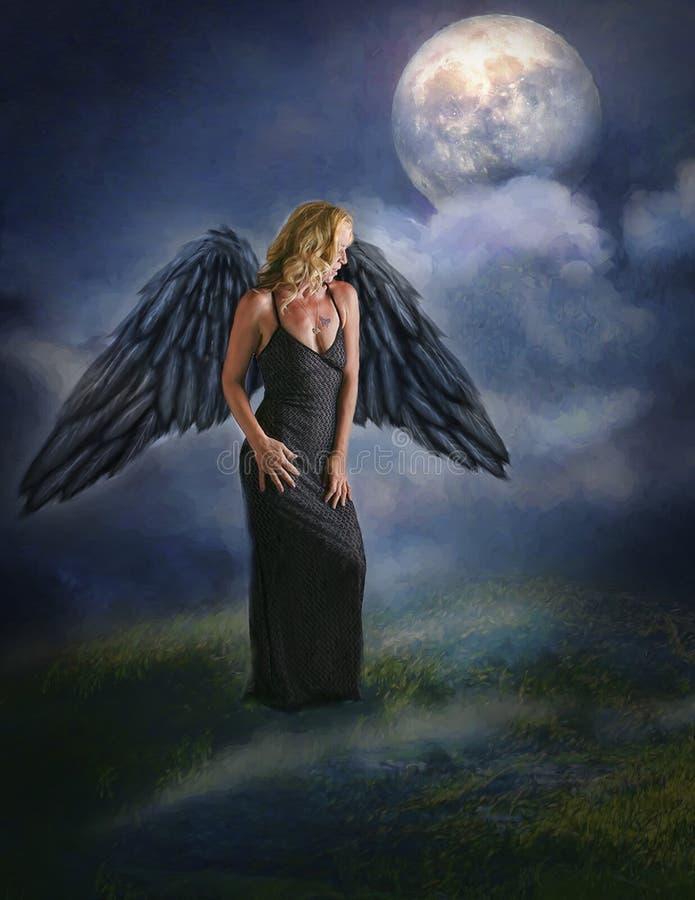 Vrouwen met vleugels stock afbeeldingen