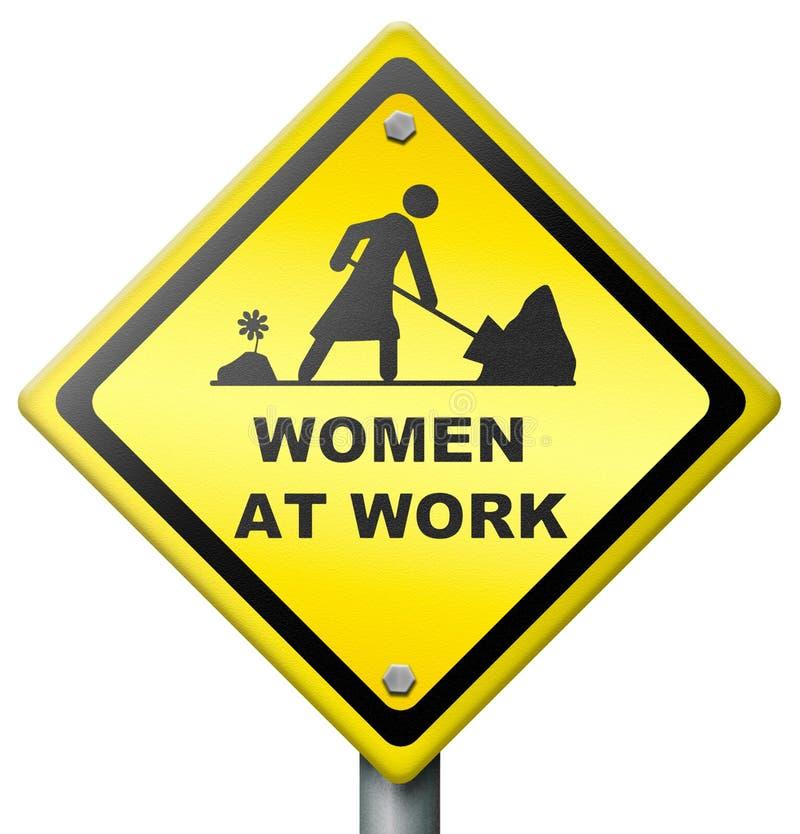 Vrouwen op het werk royalty-vrije illustratie