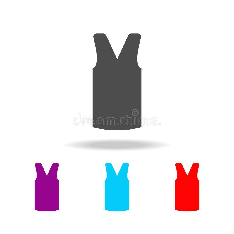 Vrouwen` s gebreid vest, klerenpictogram Elementen van kleren in multi gekleurde pictogrammen voor mobiel concept en Web apps Pic royalty-vrije illustratie