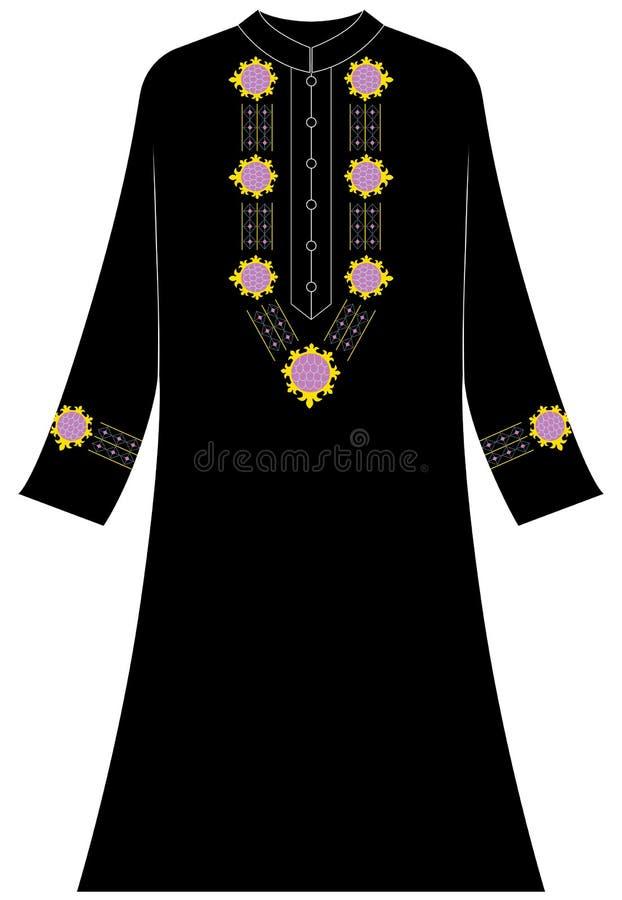 Vrouwen` s kleding: Abstracte en geometrische ornamenten stock illustratie