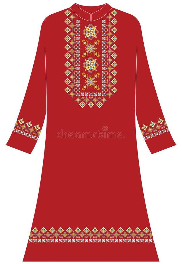 Vrouwen` s kleding: Jasmijnbloem 4 bloemblaadjes stock illustratie