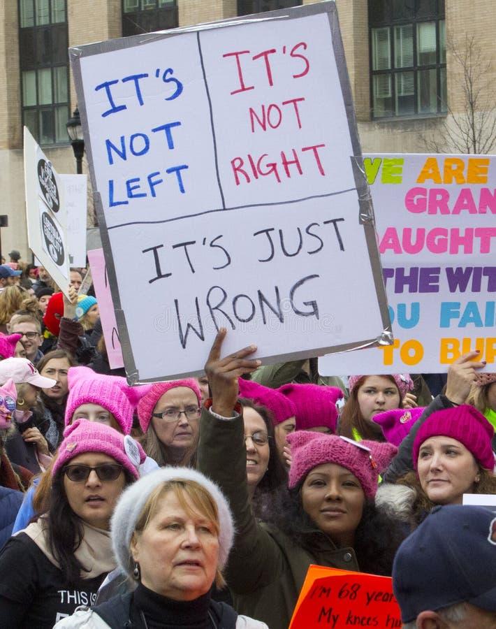 Vrouwen ` s Maart op Washington stock foto's