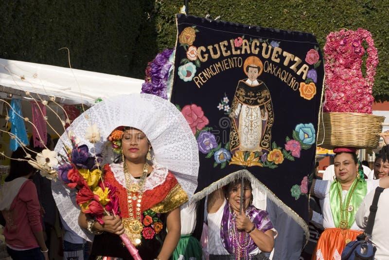 Vrouwen van Oaxaca stock foto's