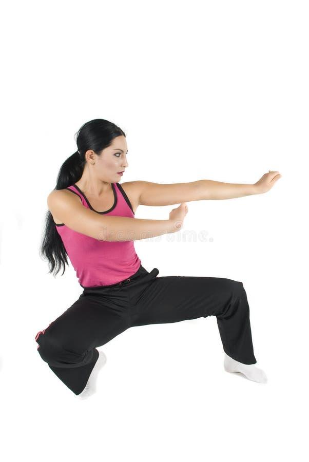 Vrouwen in zelf - defensie stock foto