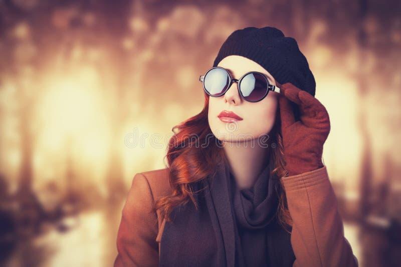 Vrouwen in zonnebril. stock fotografie