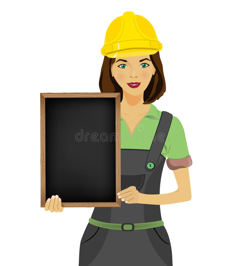 Vrouwenarchitect stock illustratie