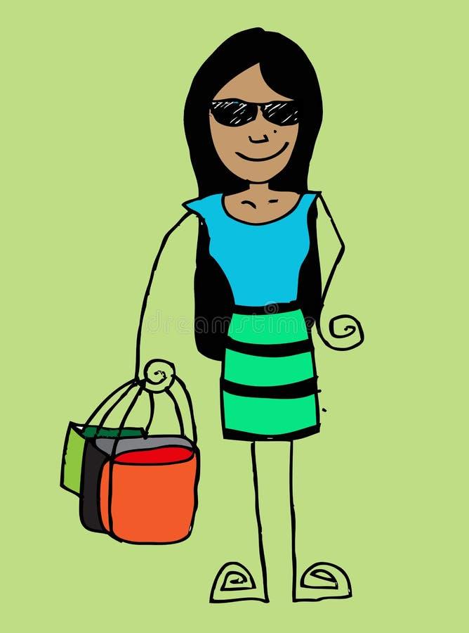 Vrouwenbeeldverhaal vector illustratie