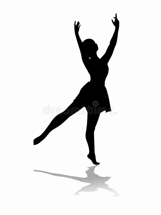 Vrouwendanser, vectorillustratie stock foto's
