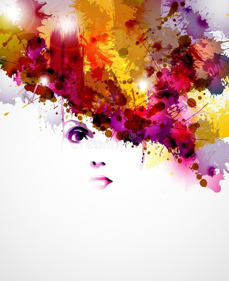 Vrouwengezicht stock illustratie