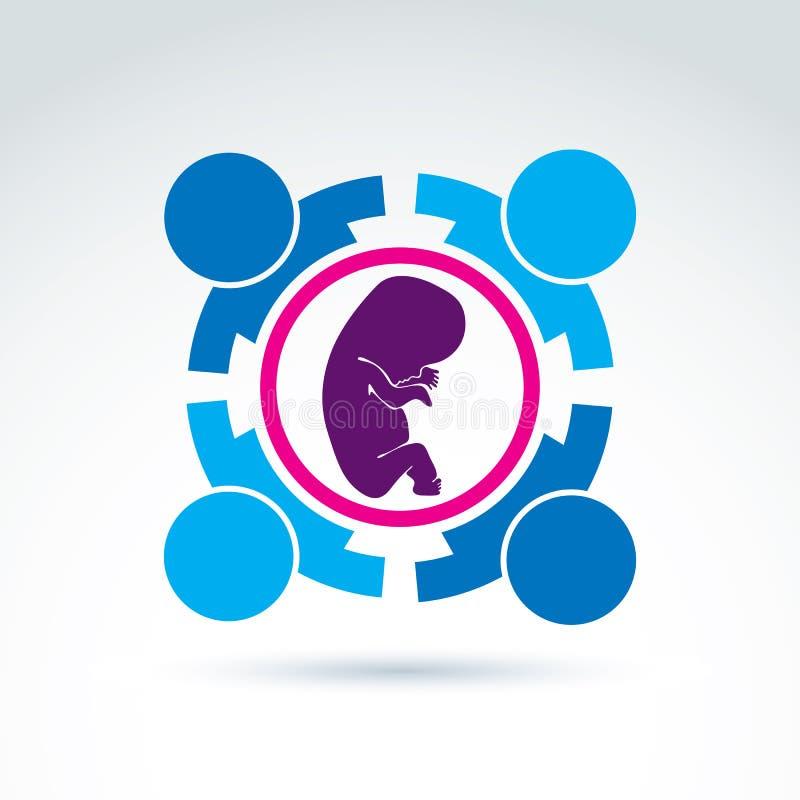 Vrouwengezondheid - prenataal centrum, vectorconceptenpictogram royalty-vrije illustratie