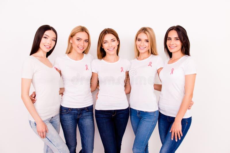 Vrouwengezondheidszorg, borstkanker, geneeskundeconcept Portret van F stock foto