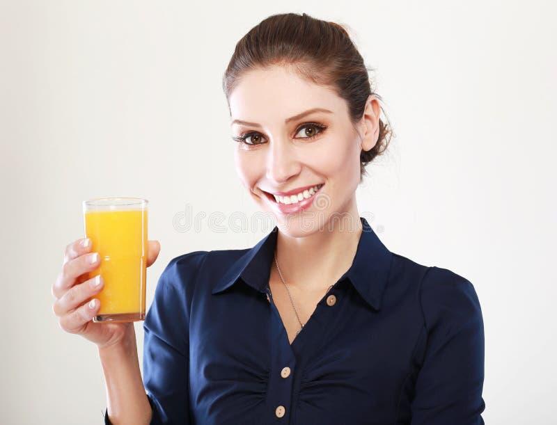 Vrouwenjus d'orange royalty-vrije stock fotografie