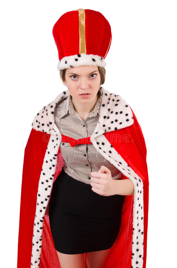 Vrouwenkoningin royalty-vrije stock foto