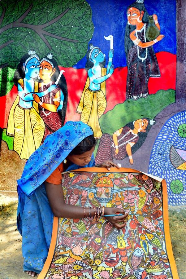 Vrouwenkunstenaar stock foto