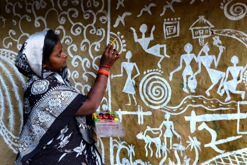 Vrouwenkunstenaar royalty-vrije stock foto
