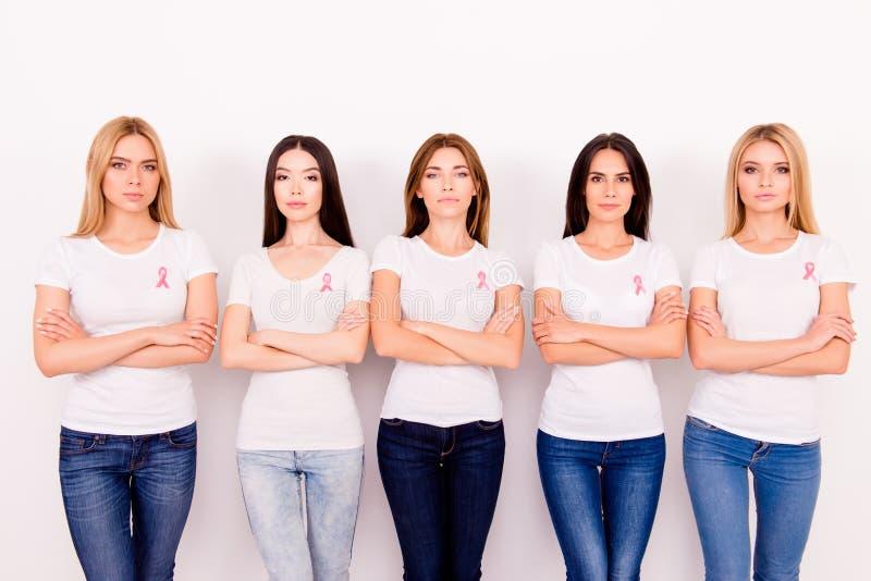 Vrouwenmacht, sterkte, zijn wij vechters, kunnen wij het samen doen! C stock afbeelding