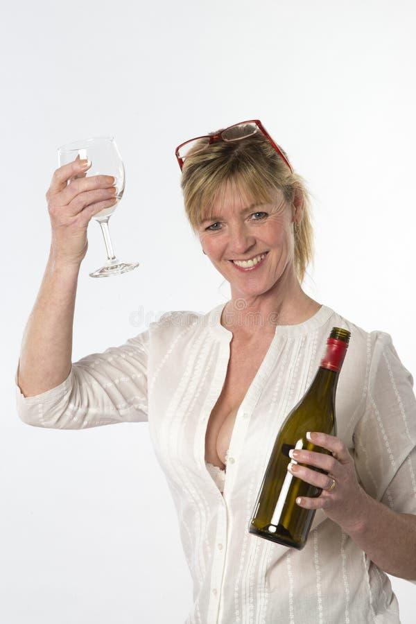 Vrouwenpartij die goer drinken stock fotografie