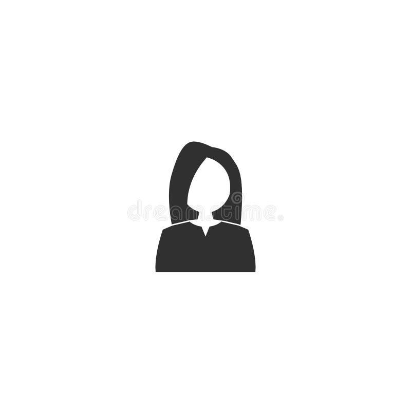 Vrouwenpictogram Vectorsymbool op witte achtergrond stock illustratie