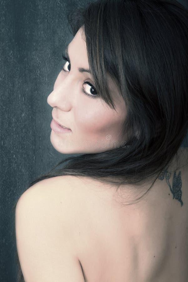 Vrouwenportret stock foto