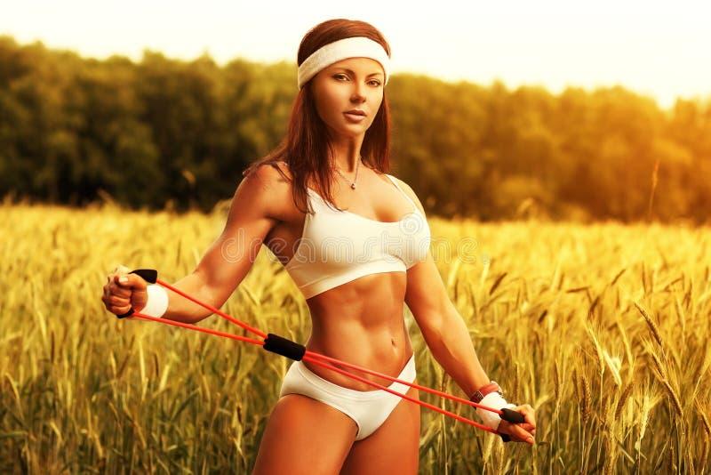 Vrouwensporten opleiding royalty-vrije stock afbeelding