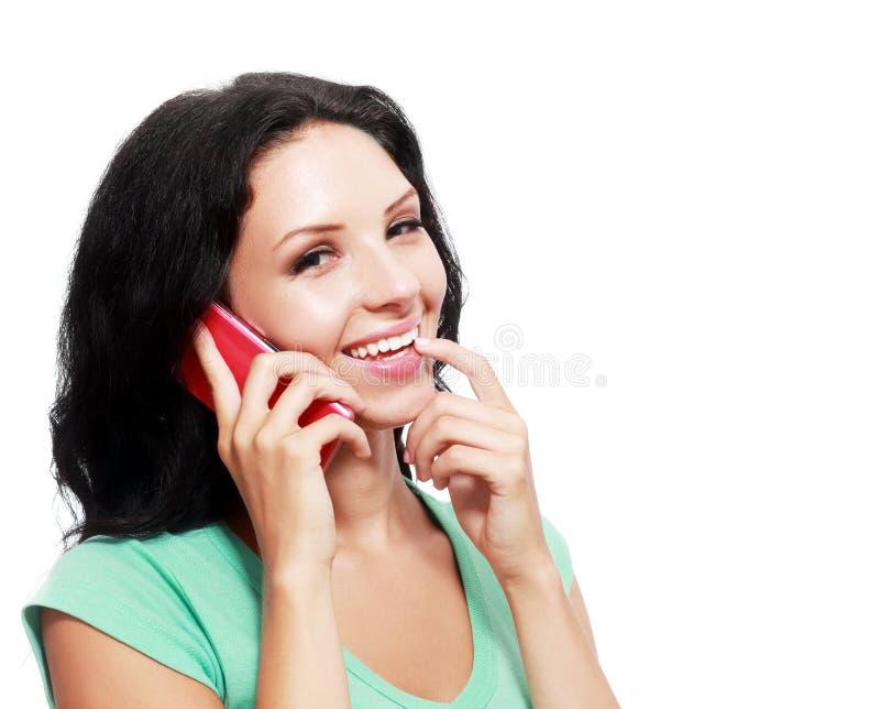 Vrouwentelefoongesprek stock afbeelding