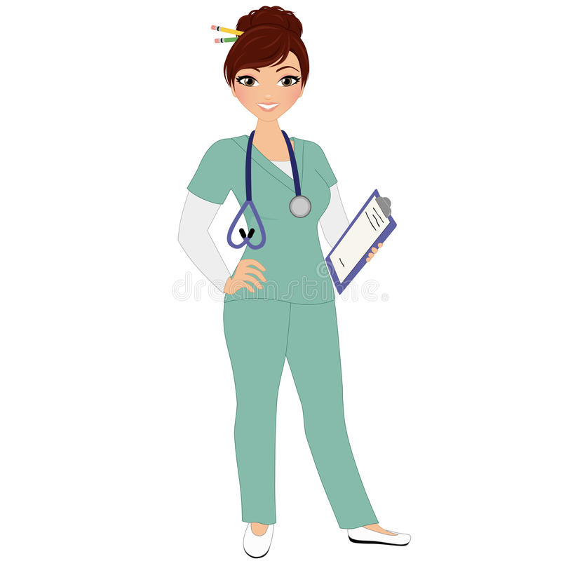 Vrouwenverpleegster stock illustratie