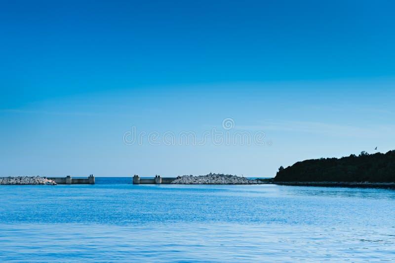 vrsar hav för adriatic croatia porthamn arkivbild