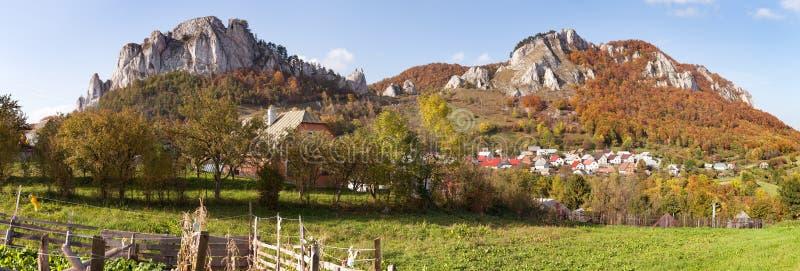 Vrsatec和Vrsatecke Podhradie村庄-斯洛伐克 免版税库存图片