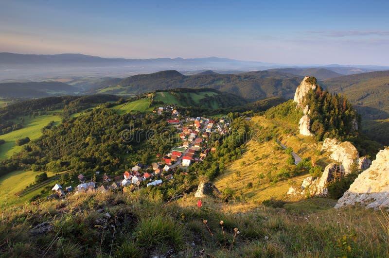 Vrsatec and Vrsatecke Podhradie village - Slovakia.  royalty free stock images