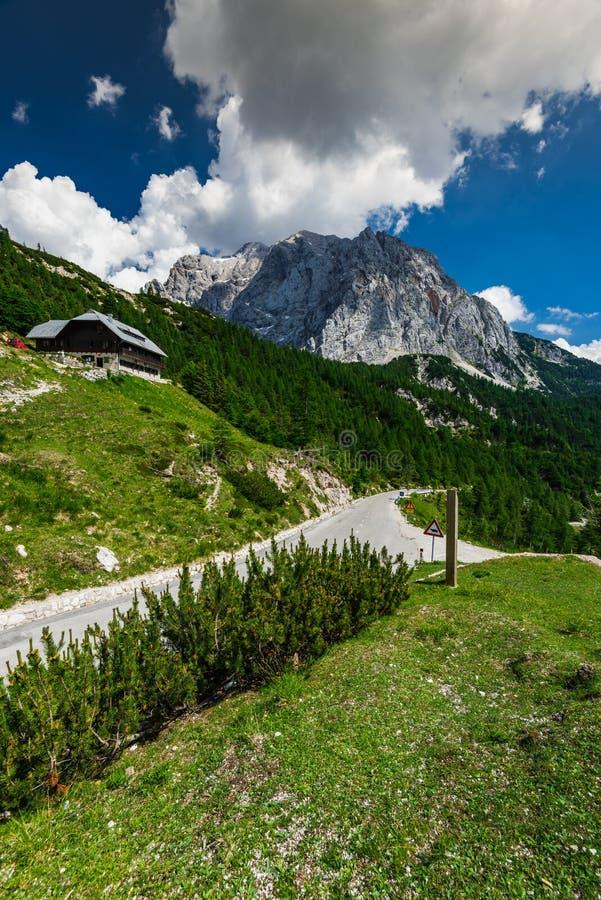 Vrsicpas in Julian Alps, Slovenië royalty-vrije stock afbeelding