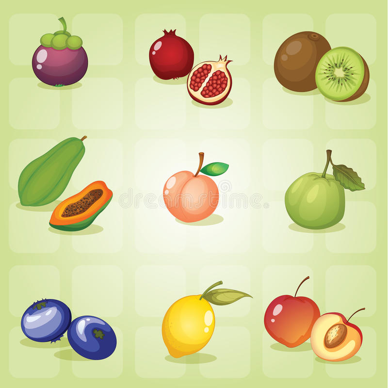 Vruchten vector illustratie