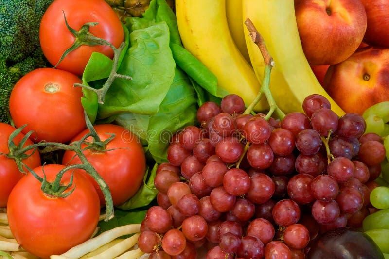 Vruchten en Één of andere Veggies stock foto's